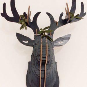 Cabezas animales madera